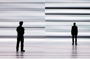 Ryoji Ikeda, data.tron [8k enhanced version], audiovisual installation, 2008-09, © Ryoji Ikeda,  photo James Ewing