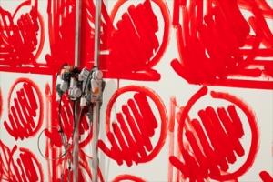Smoking Bolts, Simon Ingram, installation view week 3, Artspace Sydney, photo Silversalt Photography